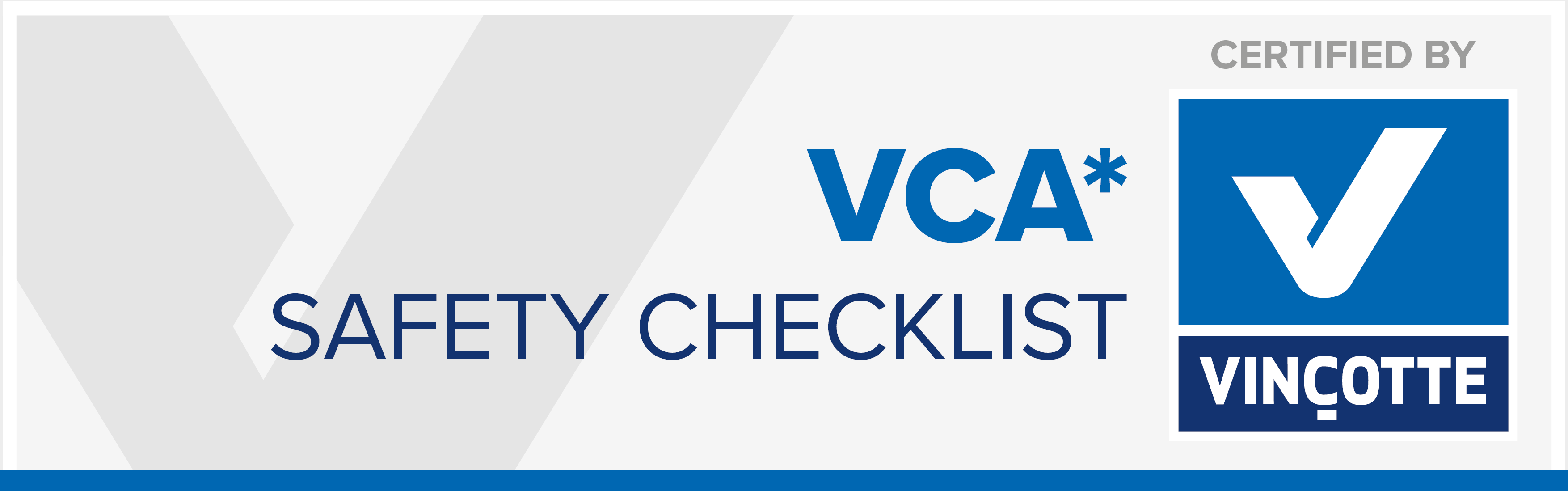 VCA Safety Checklist certificaat